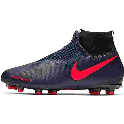 Nike JR PHANTOM VSN ACADEMY DF FG/MG Fußballschuhe Kinder obsidian-black bright crimpson