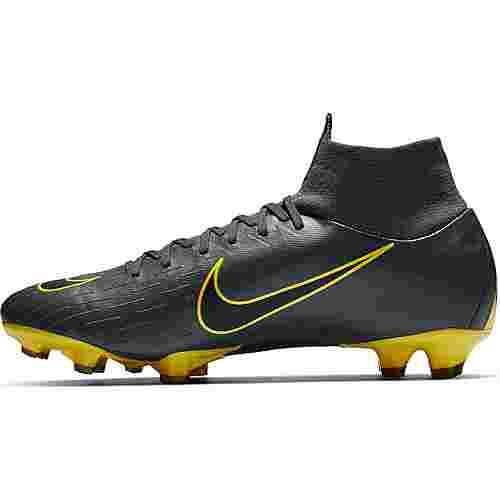 Nike MERCURIAL SUPERFLY 6 PRO FG Fußballschuhe dk grey-black-opti yellow-opti yellow
