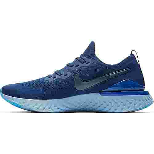 Nike EPIC REACT FLYKNIT 2 Laufschuhe Herren blue void-blue void-indigo force-black-photo blue-blue tint