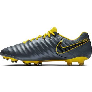 Nike TIEMPO LEGEND 7 ELITE FG Fußballschuhe dk grey-opti yellow-black-opti yellow