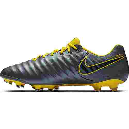 Nike TIEMPO LEGEND 7 ELITE FG Fußballschuhe dk grey-opti yellow-black-opti yellow