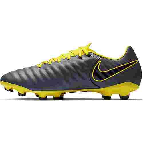 Nike TIEMPO LEGEND 7 ACADEMY FG Fußballschuhe dk grey-black-opti yellow-opti yellow