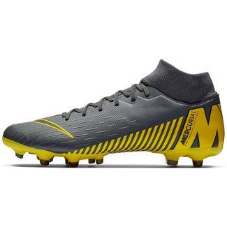 Nike MERCURIAL SUPERFLY 6 ACADEMY FG/MG Fußballschuhe dk grey-black-dk grey-opti yellow
