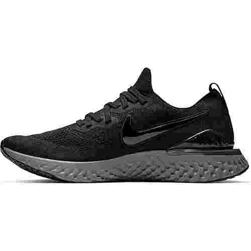 Nike EPIC REACT FLYKNIT 2 Laufschuhe Herren black-black-white-gunsmoke