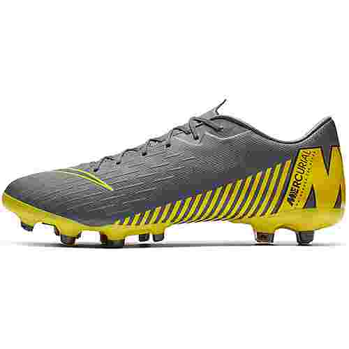 Nike MERCURIAL VAPOR 12 ACADEMY FG/MG Fußballschuhe dk grey-black-dk grey-opti yellow