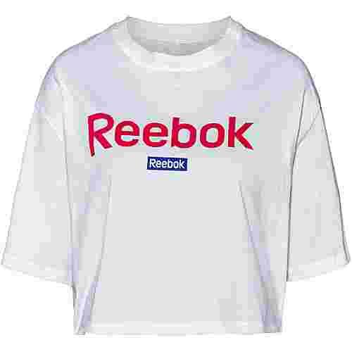 Reebok Linear Croptop Damen white