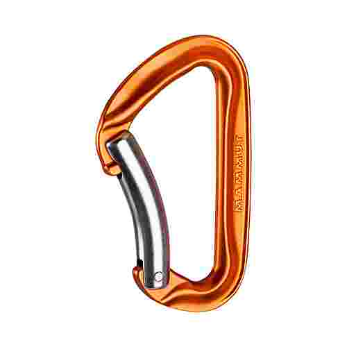 Mammut Wall Key Lock Karabiner orange Bent Gate