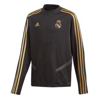 adidas Real Madrid Trainingsoberteil Sweatshirt Kinder Black / Dark Football Gold
