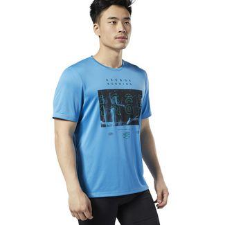 Reebok Reebok Running Crew T-Shirt Funktionsshirt Herren Cyan