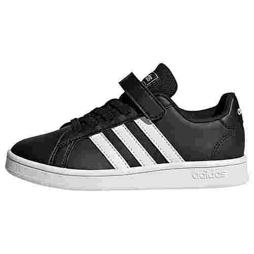 adidas Grand Court Schuh Sneaker Kinder Core Black / Cloud White / Cloud White