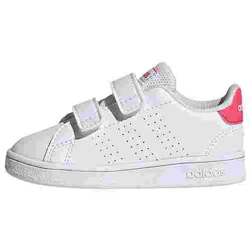adidas Advantage Schuh Sneaker Kinder Ftwr White / Real Pink / Ftwr White