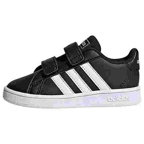 adidas Grand Court Schuh Sneaker Kinder Core Black / Ftwr White / Ftwr White