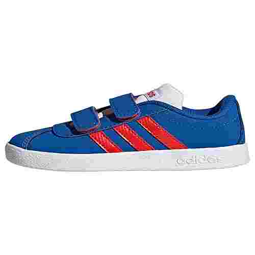 adidas VL Court 2.0 Schuh Sneaker Kinder Blue / Active Red / Cloud White