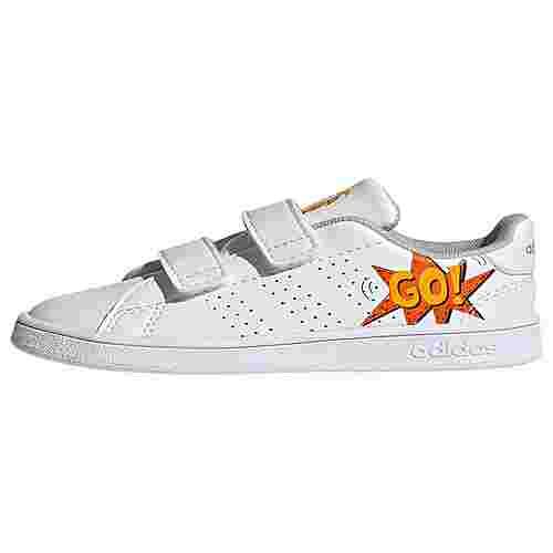 adidas Advantage Schuh Sneaker Kinder Cloud White / Cloud White / Orange