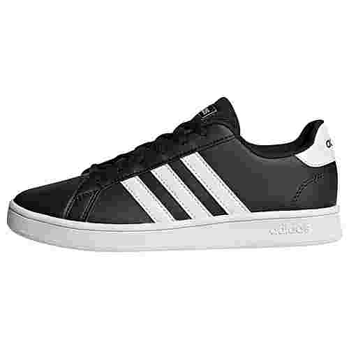 adidas Grand Court Schuh Sneaker Kinder Core Black / Cloud White / Cloud White