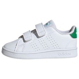 adidas Advantage Schuh Sneaker Kinder Cloud White / Green / Grey Two