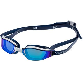 MP Michael Phelps Xceed Schwimmbrille white-blue titanium mirror