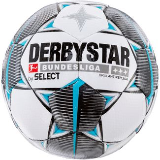 Derbystar Brilliant Bundesliga 19/20 Replica Fußball weiß schwarz petrol