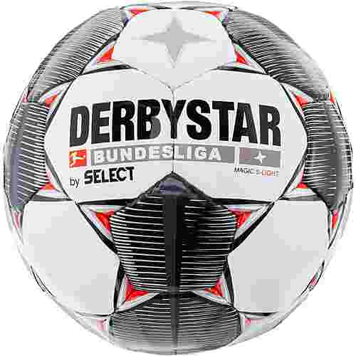 Derbystar Magic S-Light Bundesliga 19/20 290gr Fußball weiß schwarz grau rot
