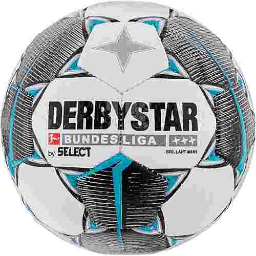 Derbystar Brilliant Bundesliga 19/20 Miniball weiß schwarz petrol