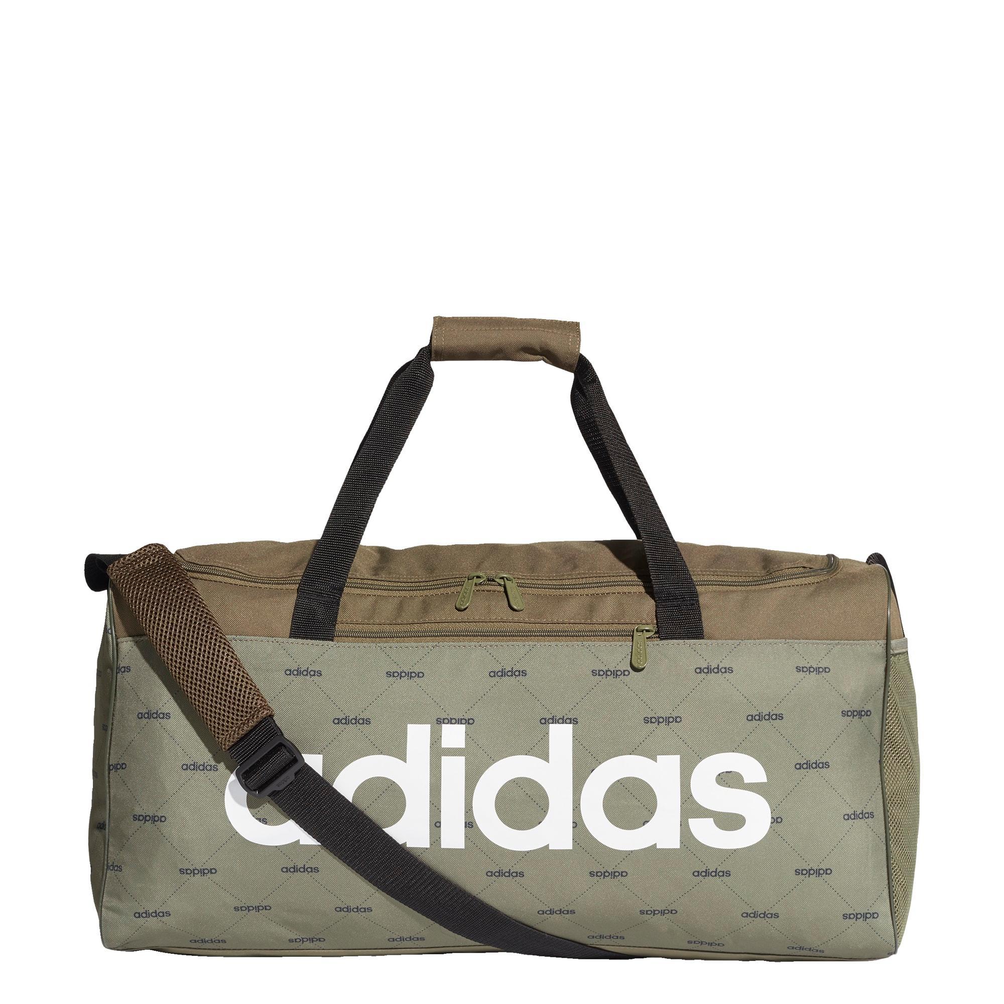 adidas Linear Duffelbag Sporttasche Herren Raw Khaki Black White im Online Shop von SportScheck kaufen