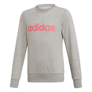 adidas Linear Sweatshirt Sweatshirt Kinder Medium Grey Heather / Real Pink