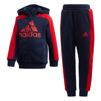 adidas Graphic Kapuzenjacken-Set Trainingsanzug Kinder Collegiate Navy / Collegiate Navy / Scarlet