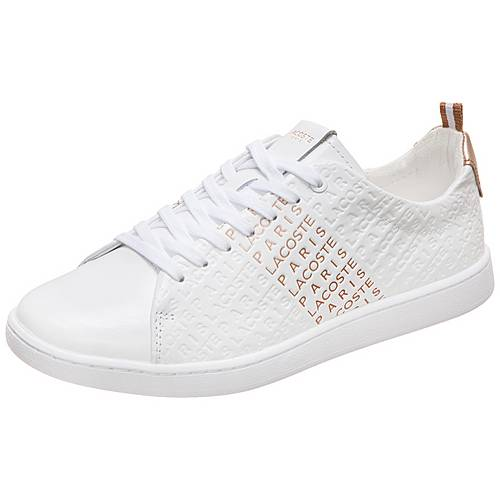 meet 6cc38 16078 Lacoste Carnaby Evo Sneaker Damen weiß / rosé gold im Online Shop von  SportScheck kaufen