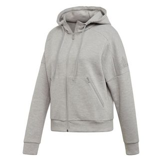 adidas ID Mélange Hoodie Sweatjacke Damen Mgh Solid Grey / Raw White