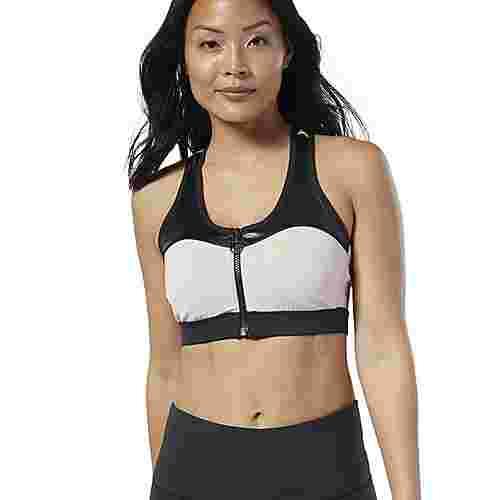 Reebok Cardio Zip Medium-Impact Bra Sport-BH Damen Buff