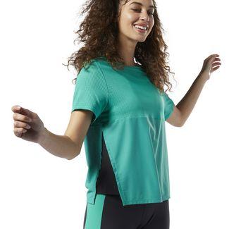 Reebok Perforated Performance T-Shirt Funktionsshirt Damen Emerald