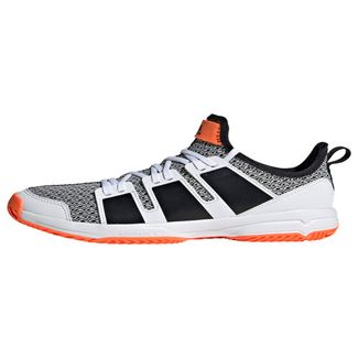 adidas Stabil JR Schuh Sneaker Kinder Cloud White / Core Black / Solar Orange