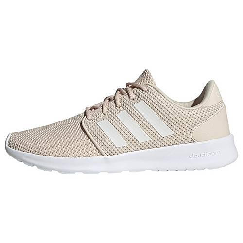 better aliexpress best website adidas Cloudfoam QT Racer Schuh Laufschuhe Damen Linen / Cloud White / Glow  Pink im Online Shop von SportScheck kaufen