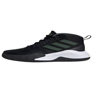 adidas Own the Game Wide Schuh Sneaker Kinder Core Black / Hi-Res Yellow / Onix