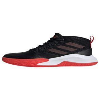 adidas Own the Game Wide Schuh Sneaker Kinder Core Black / Active Red / Cloud White