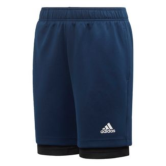 adidas 2-in-1 Mesh Shorts Funktionsshorts Kinder Collegiate Navy / Black / Active Gold
