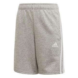 adidas Must Haves 3-Streifen Shorts Funktionsshorts Kinder Medium Grey Heather / White