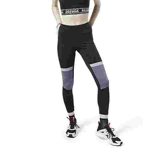 Reebok Meet You There Panelled Tight Tights Damen Schwarz