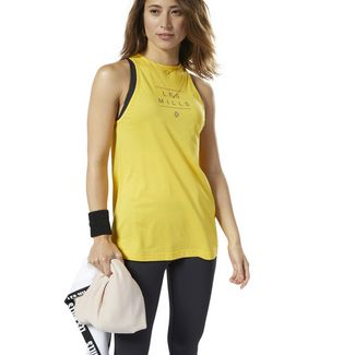 Reebok LES MILLS® Tanktop Funktionstop Damen Toxic Yellow / Medium Grey