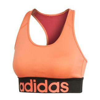 adidas Design 2 Move Logo Sport-BH Sport-BH Damen Semi Coral / Active Maroon