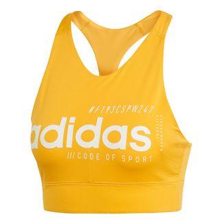 adidas Brilliant Basic Bustier Sport-BH Damen Active Gold / White
