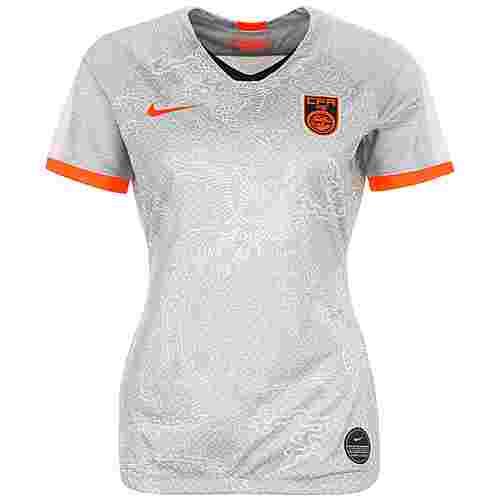 Nike China Stadium WM 2019 Auswärts Fußballtrikot Damen grau / orange