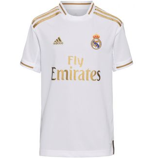 adidas Real Madrid 19/20 Heim Fußballtrikot Kinder white