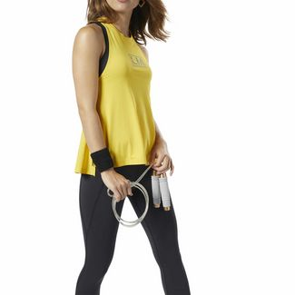 Reebok LES MILLS® Poly Tanktop Funktionstop Damen Toxic Yellow