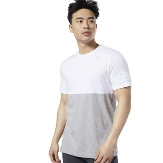 Reebok LES MILLS® T-Shirt Funktionsshirt Herren White / Medium Grey Heather