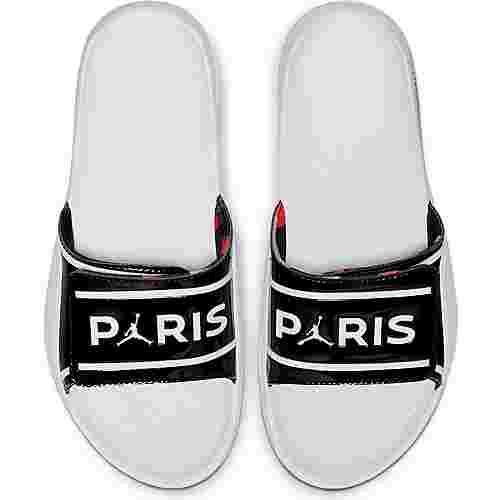 Nike Paris Saint-Germain/Jordan Badelatschen black-white-white