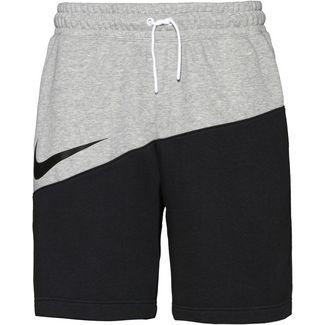 Nike NSW SWOOSH Shorts Herren dk grey heather-black-black
