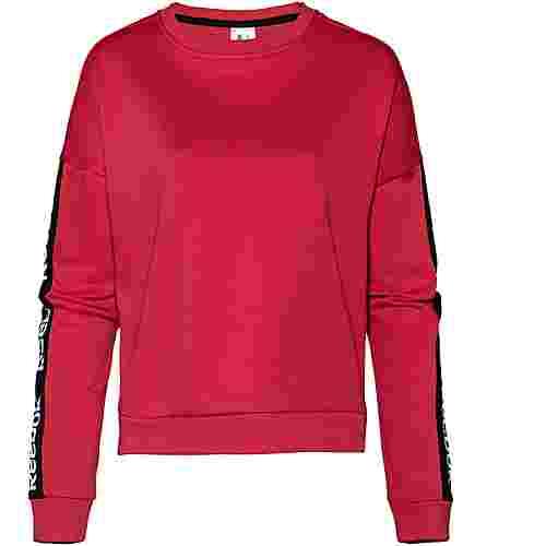 Reebok Linear Sweatshirt Damen rebel red