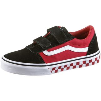 Vans Ward Sneaker Kinder black-red