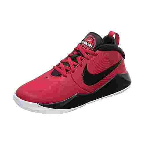 Nike Team Hustle D 9 Basketballschuhe Kinder rot / schwarz